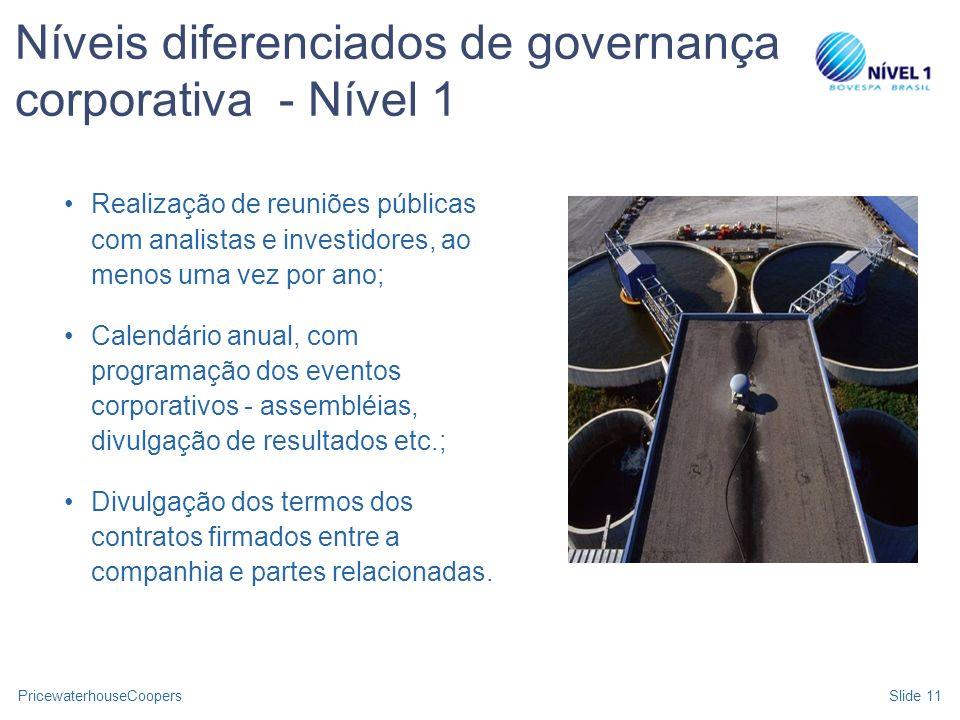 Níveis diferenciados de governança corporativa - Nível 1