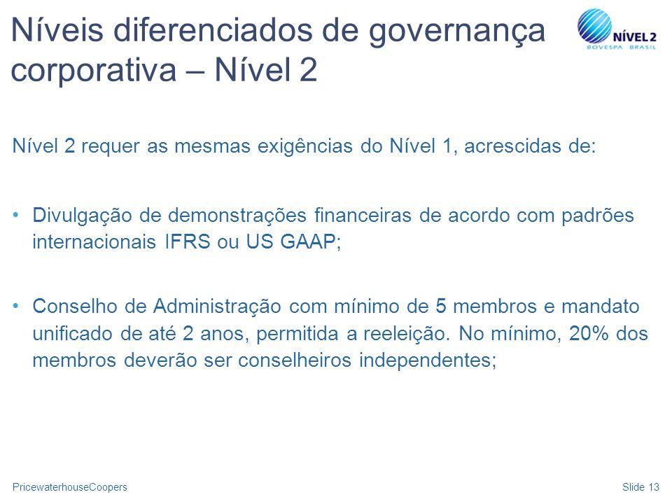 Níveis diferenciados de governança corporativa – Nível 2