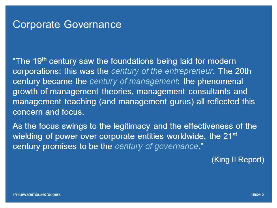 24/03/2017Corporate Governance.