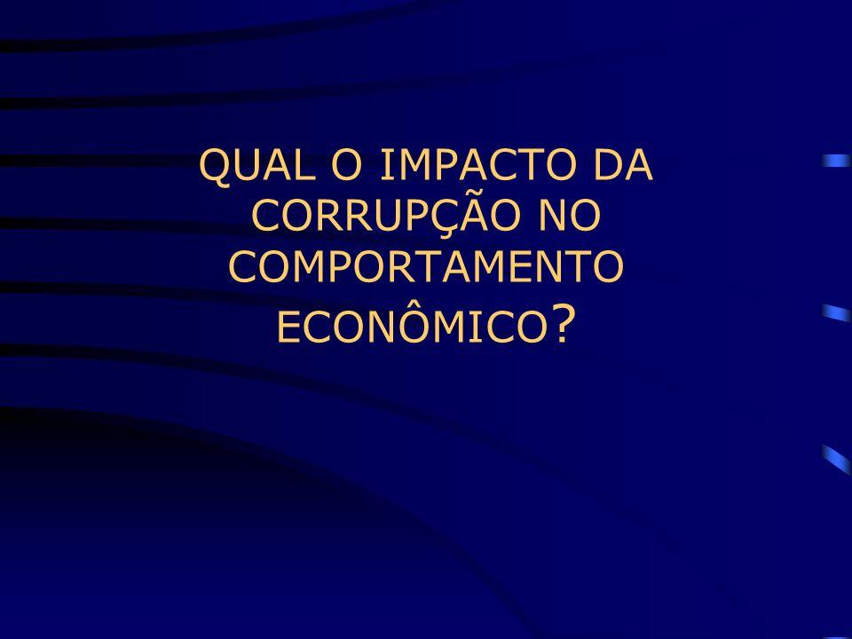 QUAL O IMPACTO DA CORRUPÇÃO NO COMPORTAMENTO ECONÔMICO