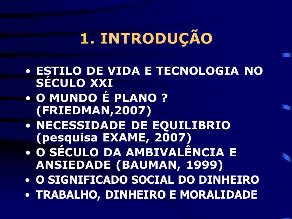 1. INTRODUÇÃO ESTILO DE VIDA E TECNOLOGIA NO SÉCULO XXI