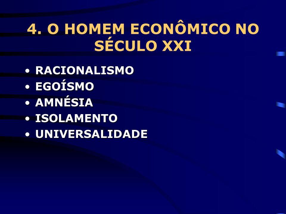 4. O HOMEM ECONÔMICO NO SÉCULO XXI