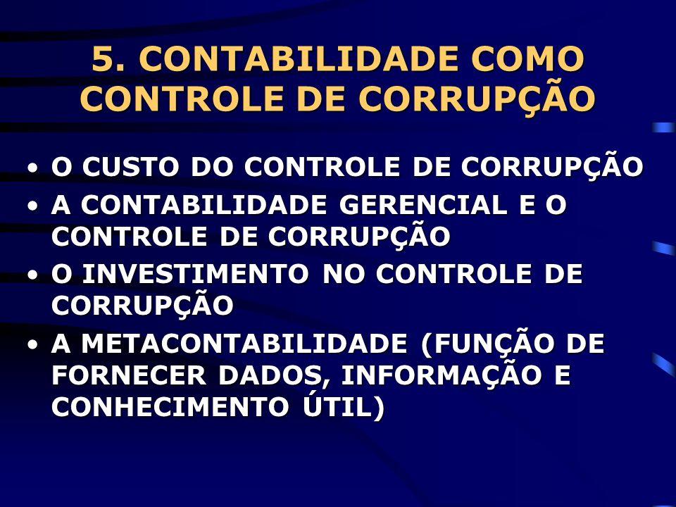 5. CONTABILIDADE COMO CONTROLE DE CORRUPÇÃO