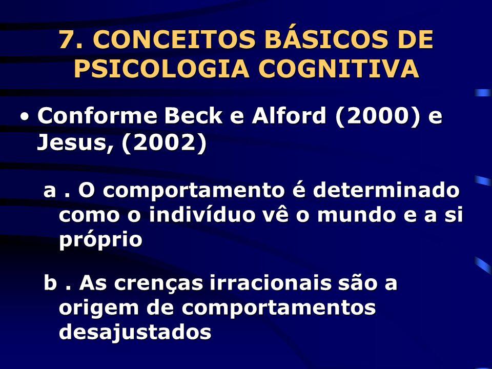 7. CONCEITOS BÁSICOS DE PSICOLOGIA COGNITIVA