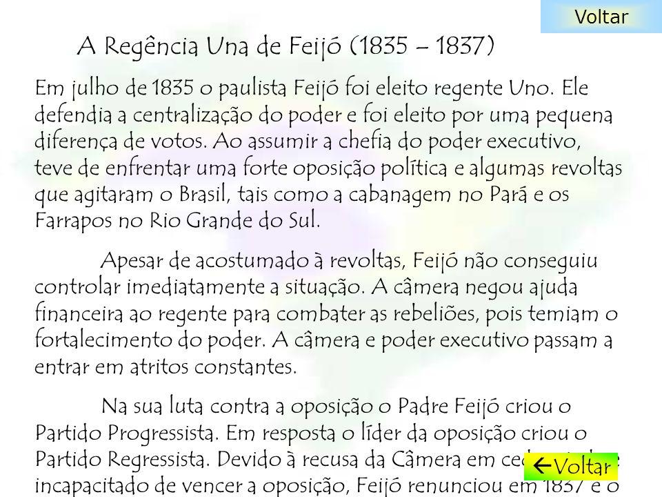 A Regência Una de Feijó (1835 – 1837)