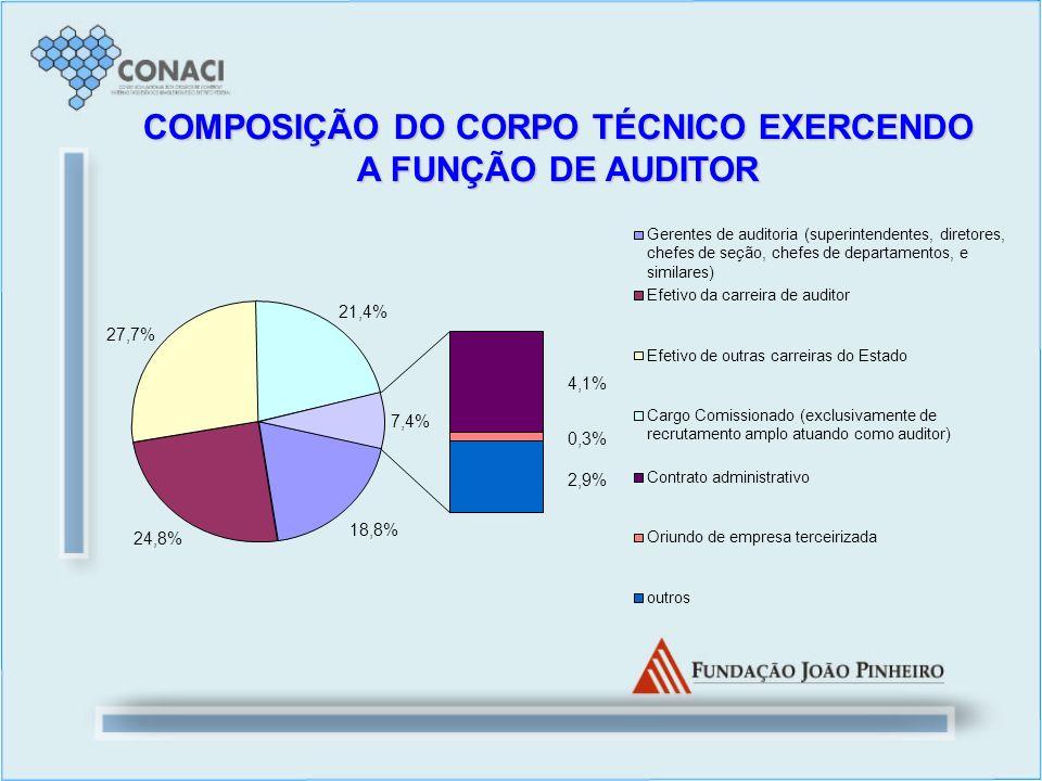 COMPOSIÇÃO DO CORPO TÉCNICO EXERCENDO A FUNÇÃO DE AUDITOR