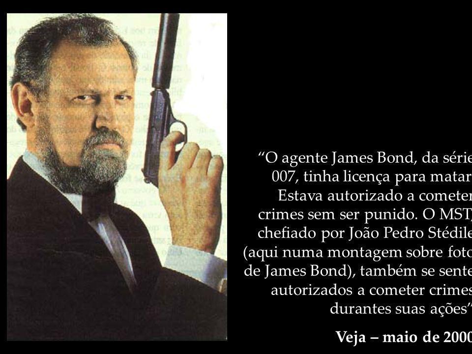 O agente James Bond, da série 007, tinha licença para matar