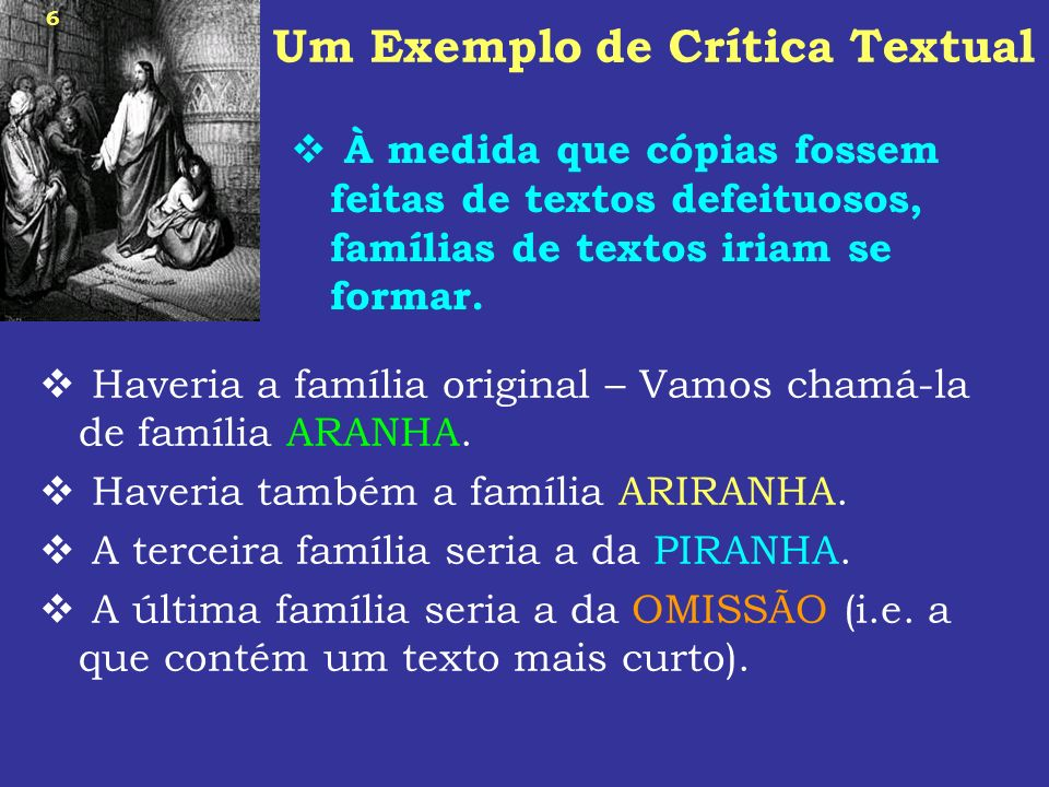 Um Exemplo de Crítica Textual