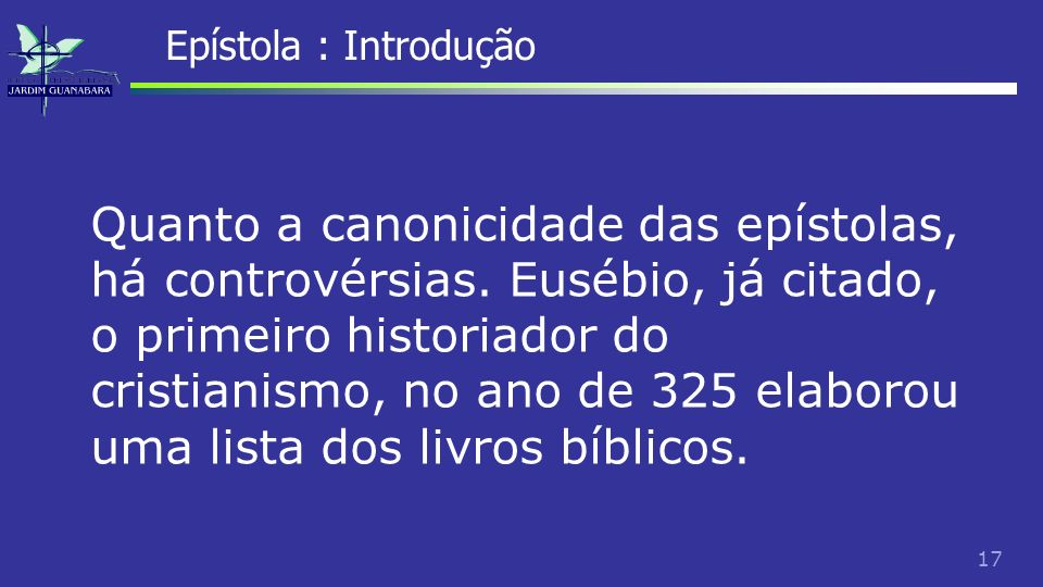 Epístola : Introdução