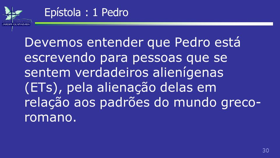 Epístola : 1 Pedro