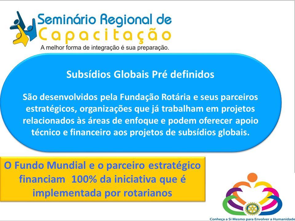 Subsídios Globais Pré definidos