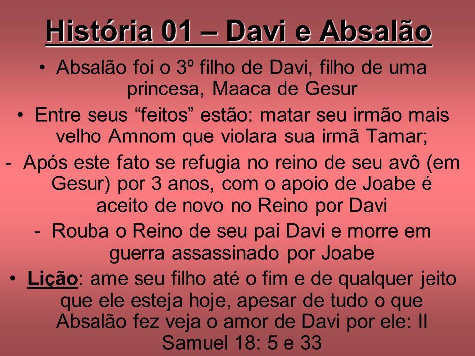 História 01 – Davi e Absalão