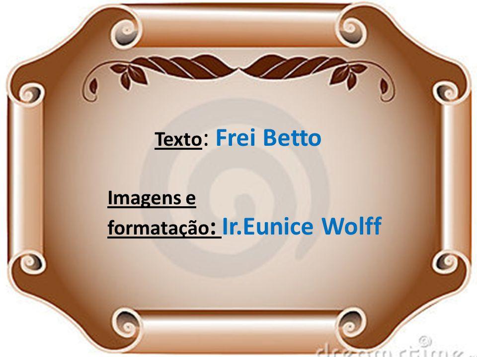 Texto: Frei Betto Imagens e formatação: Ir.Eunice Wolff