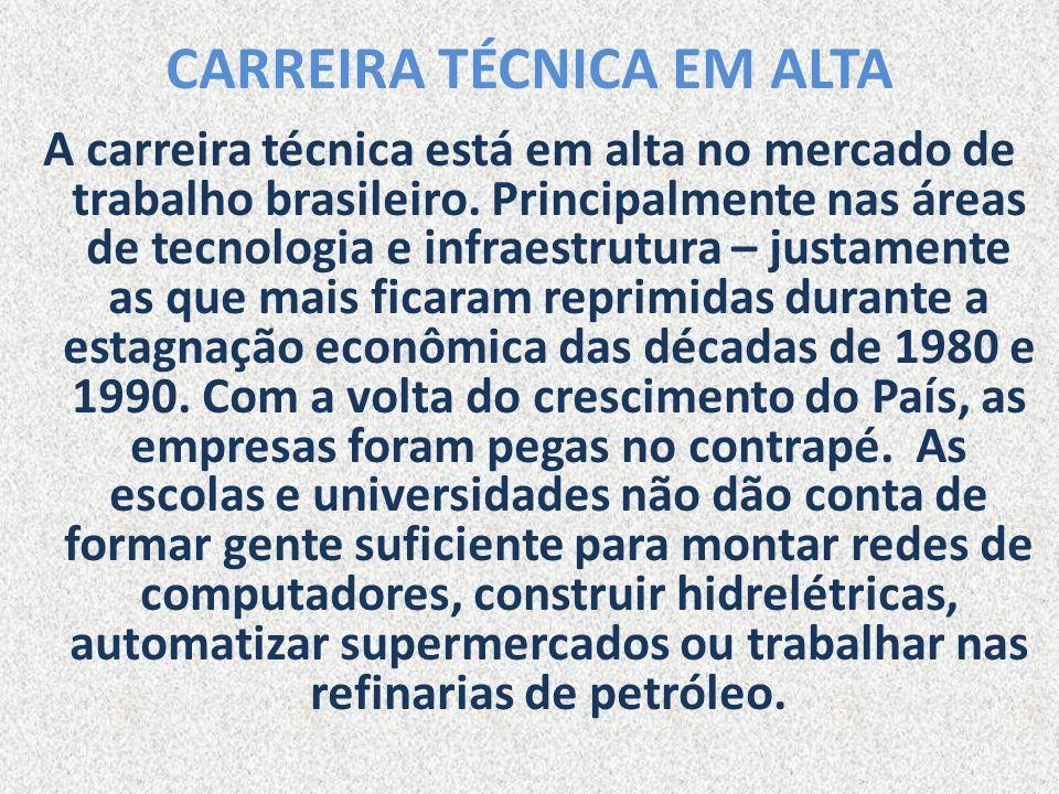 CARREIRA TÉCNICA EM ALTA