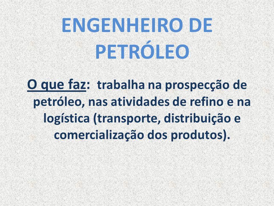 ENGENHEIRO DE PETRÓLEO