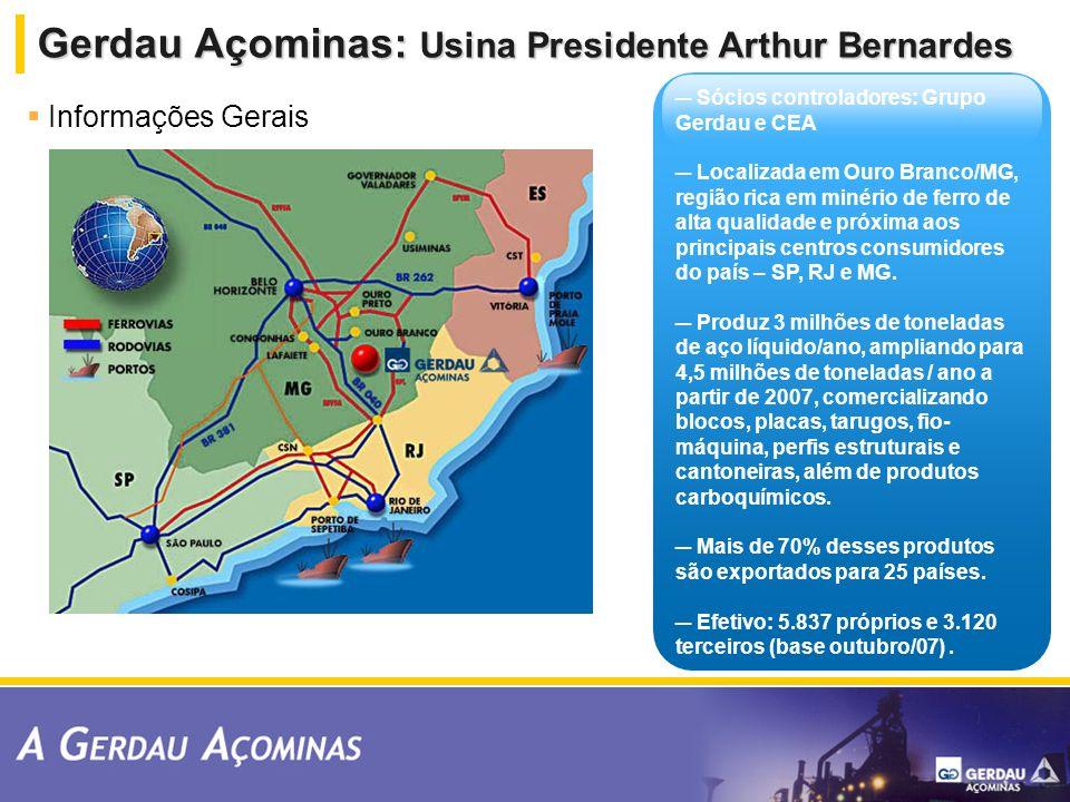 Gerdau Açominas: Usina Presidente Arthur Bernardes