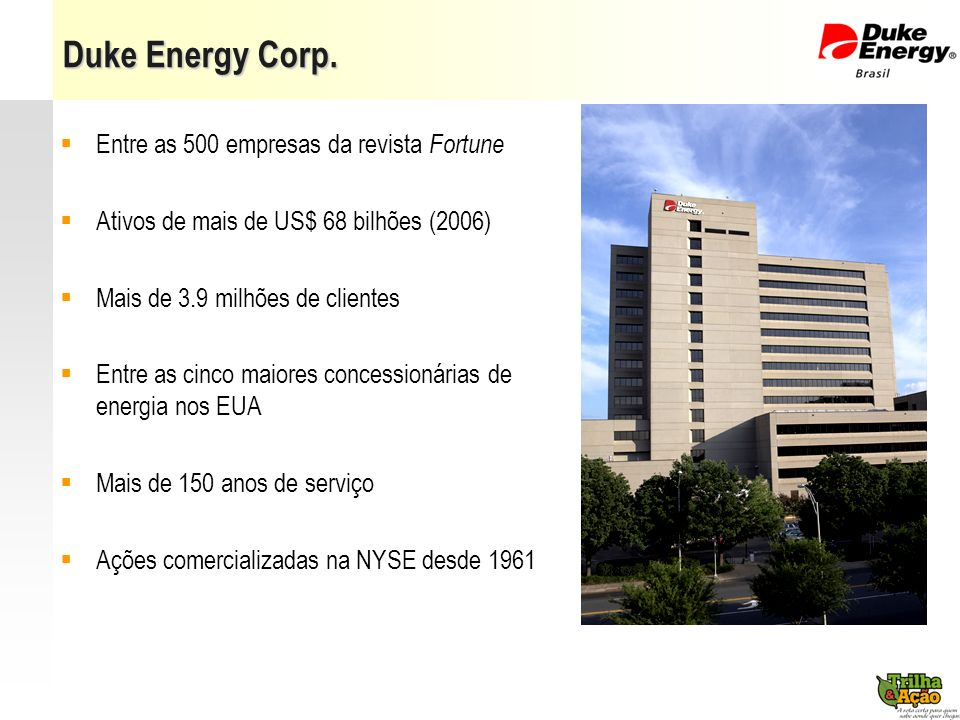 Duke Energy Corp. Entre as 500 empresas da revista Fortune