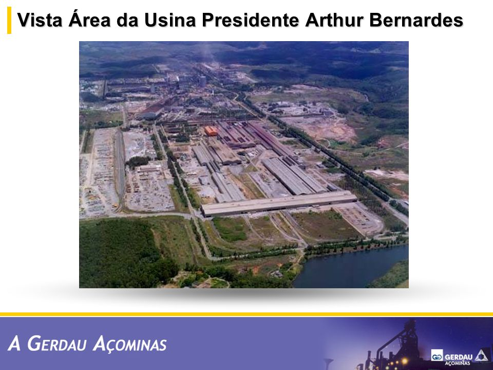 Vista Área da Usina Presidente Arthur Bernardes