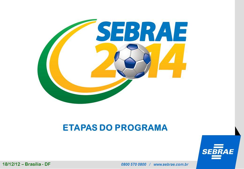 ETAPAS DO PROGRAMA 18/12/12 – Brasília - DF