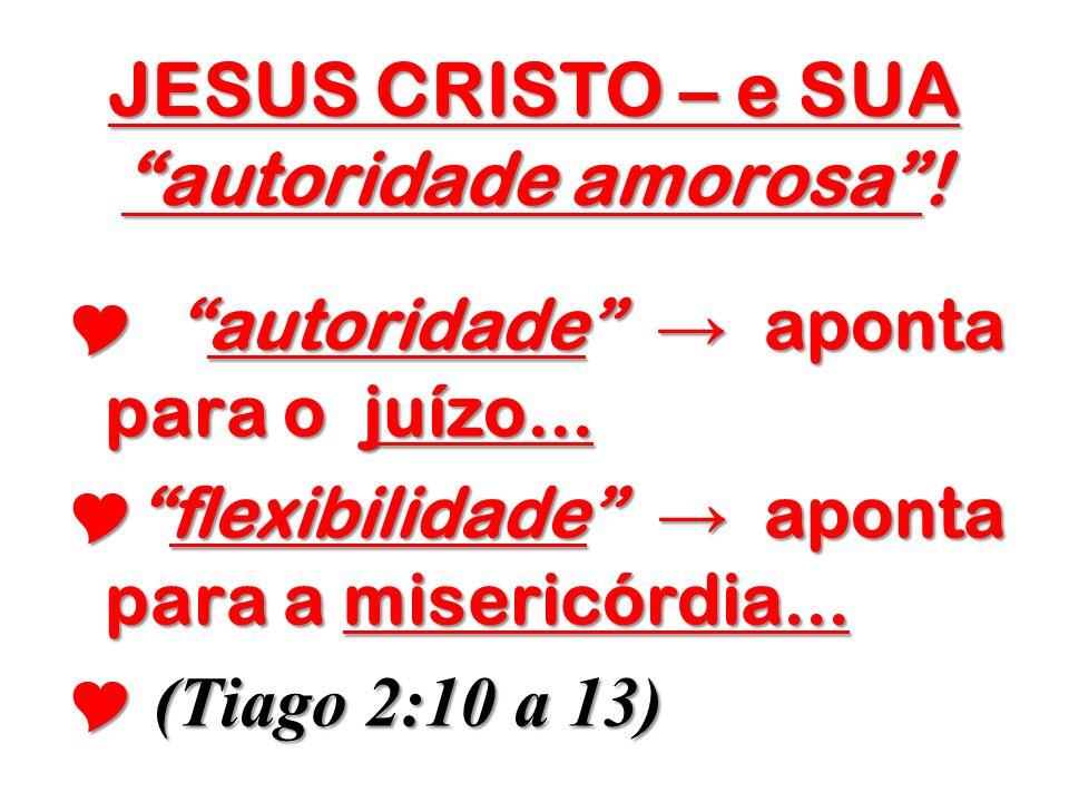 JESUS CRISTO – e SUA autoridade amorosa !