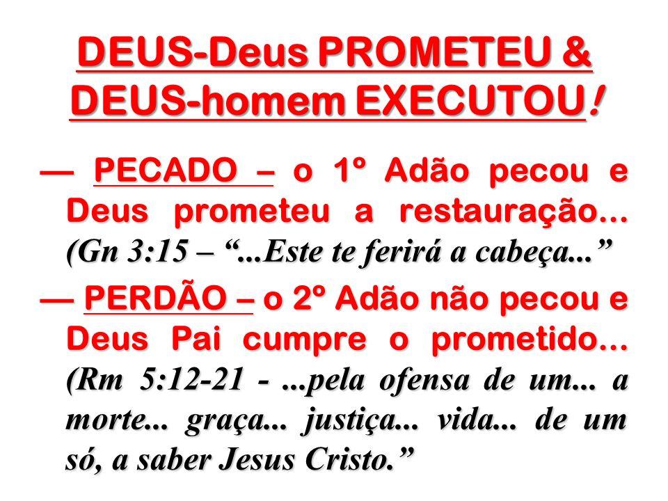 DEUS-Deus PROMETEU & DEUS-homem EXECUTOU!