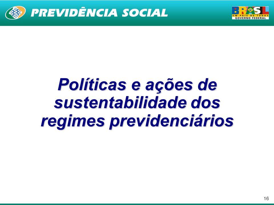 Políticas e ações de sustentabilidade dos regimes previdenciários
