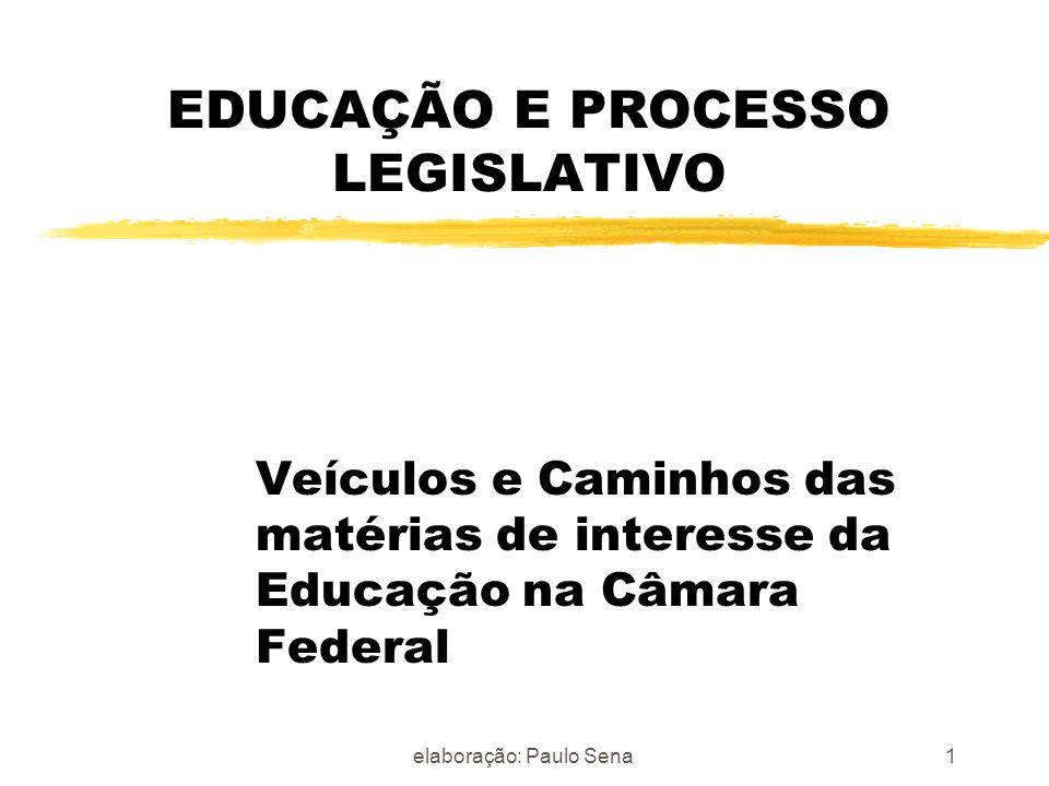 EDUCAÇÃO E PROCESSO LEGISLATIVO
