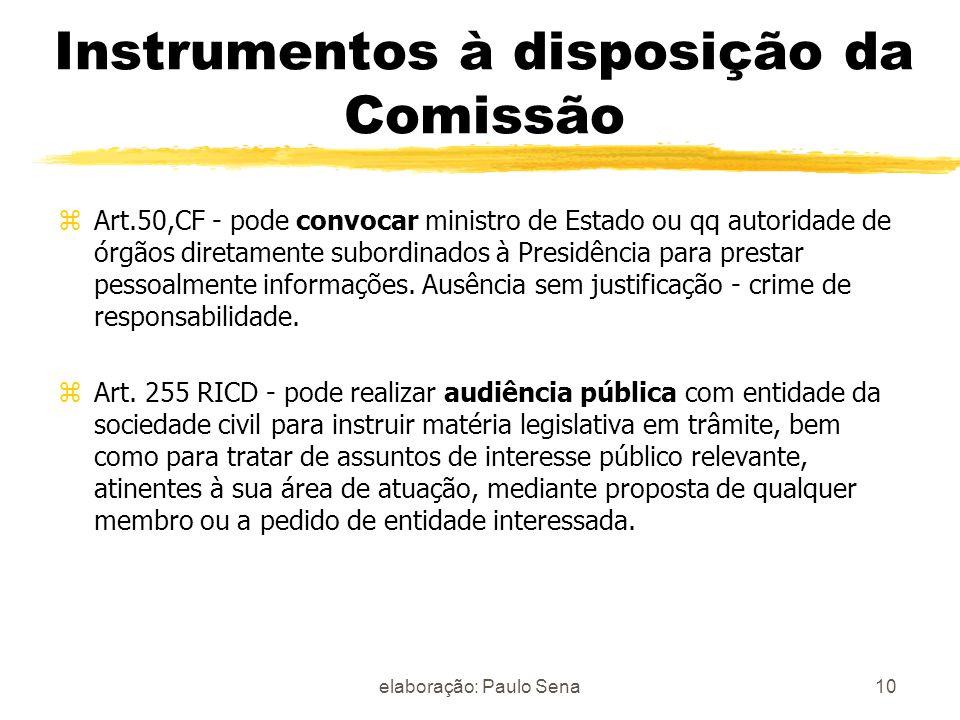 Instrumentos à disposição da Comissão