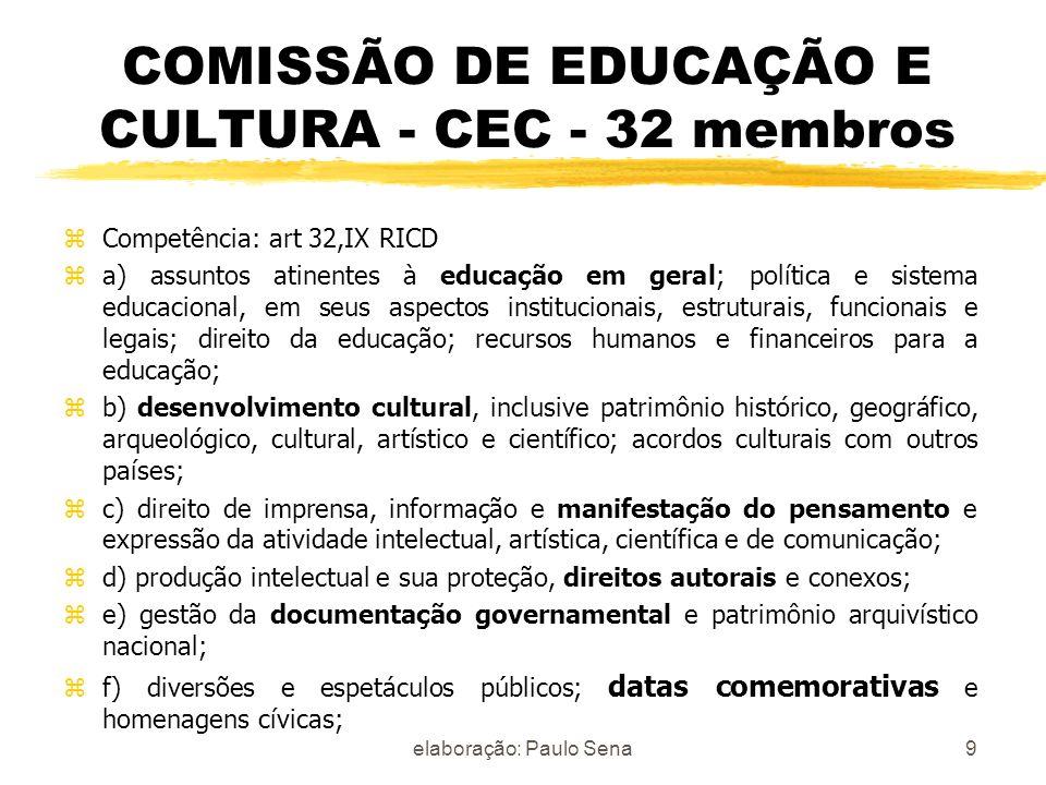 COMISSÃO DE EDUCAÇÃO E CULTURA - CEC - 32 membros