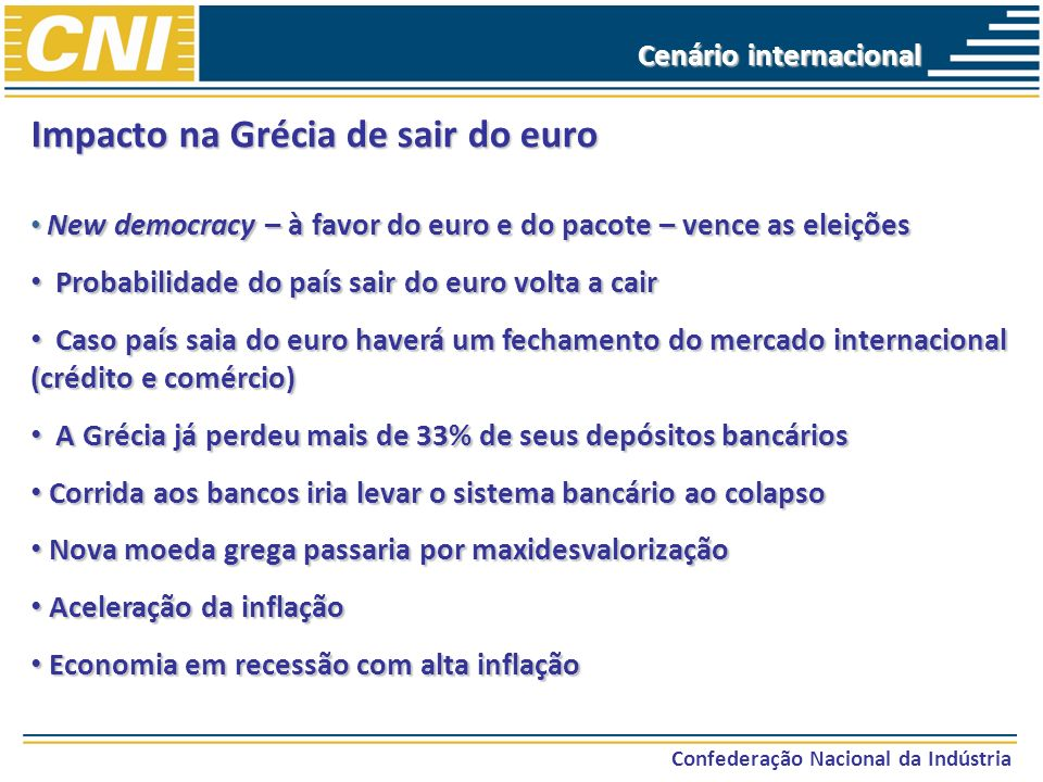 Impacto na Grécia de sair do euro