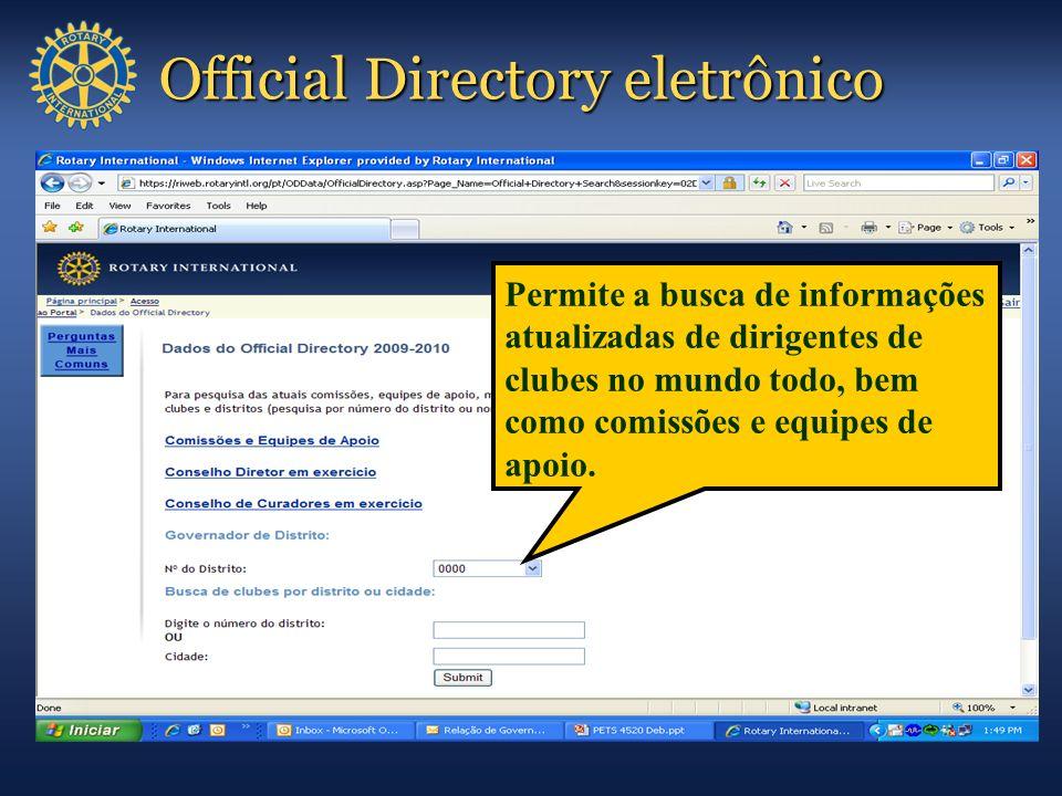 Official Directory eletrônico