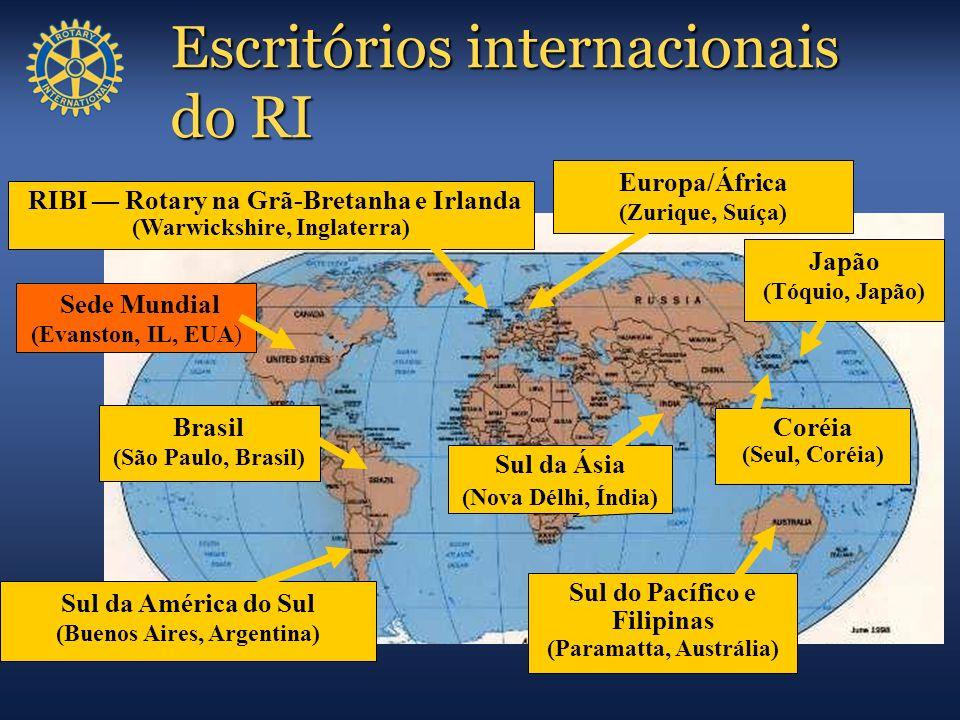 Escritórios internacionais do RI