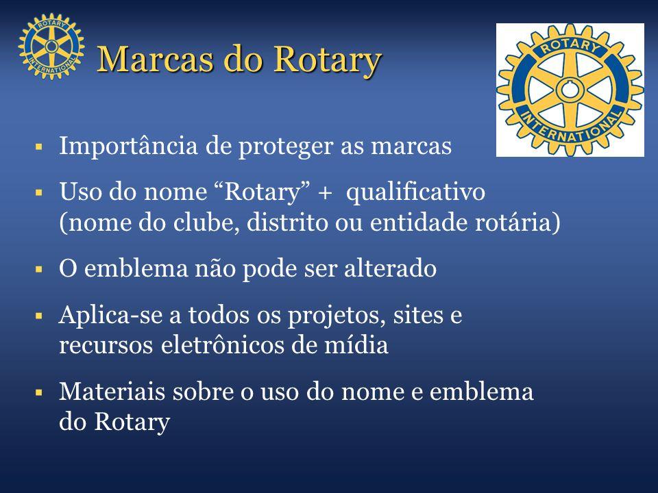 Marcas do Rotary Importância de proteger as marcas