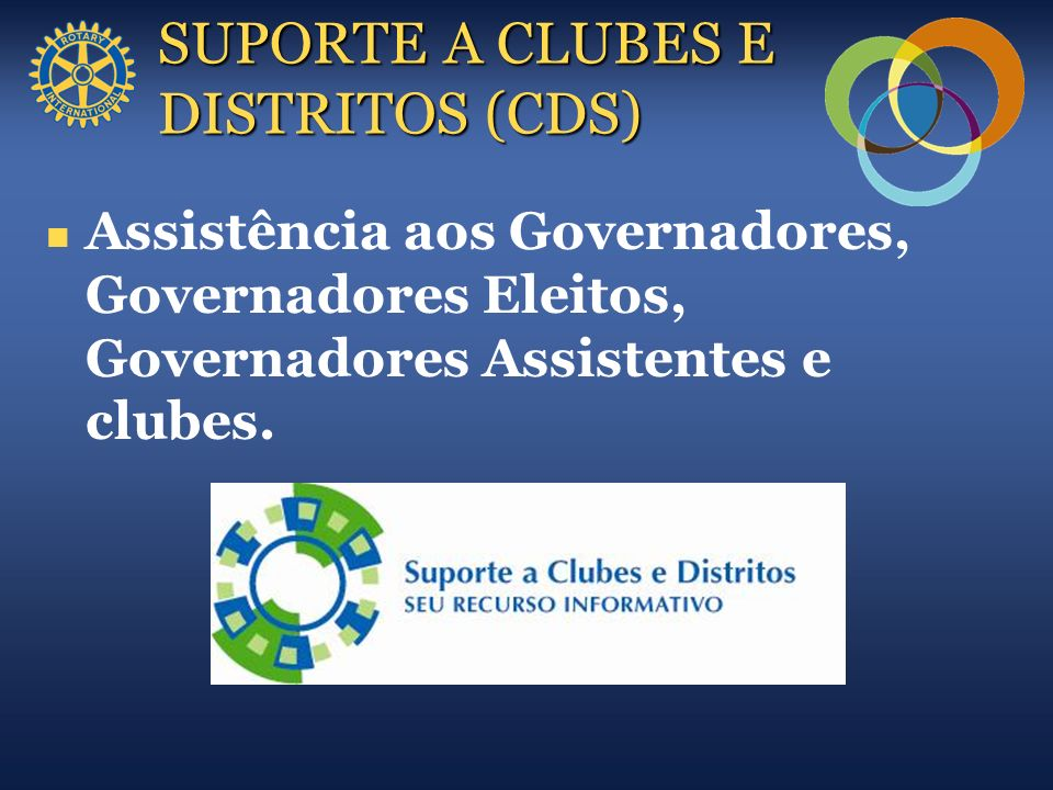 SUPORTE A CLUBES E DISTRITOS (CDS)