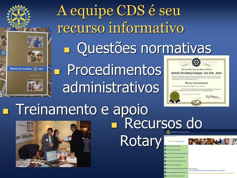 A equipe CDS é seu recurso informativo