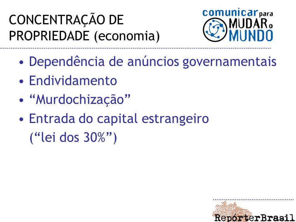 CONCENTRAÇÃO DE PROPRIEDADE (economia)