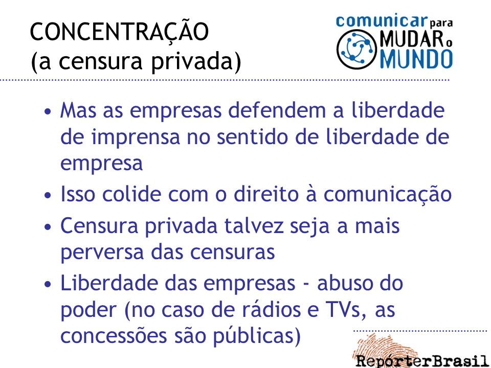 CONCENTRAÇÃO (a censura privada)