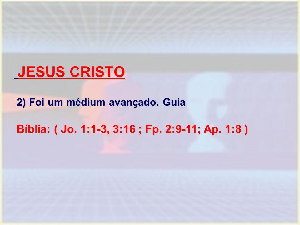 JESUS CRISTO 2) Foi um médium avançado. Guia
