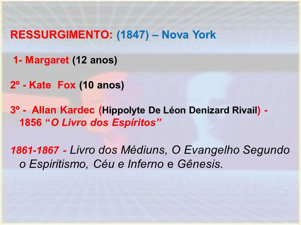 RESSURGIMENTO: (1847) – Nova York