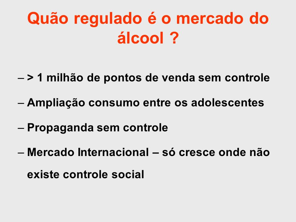Quão regulado é o mercado do álcool