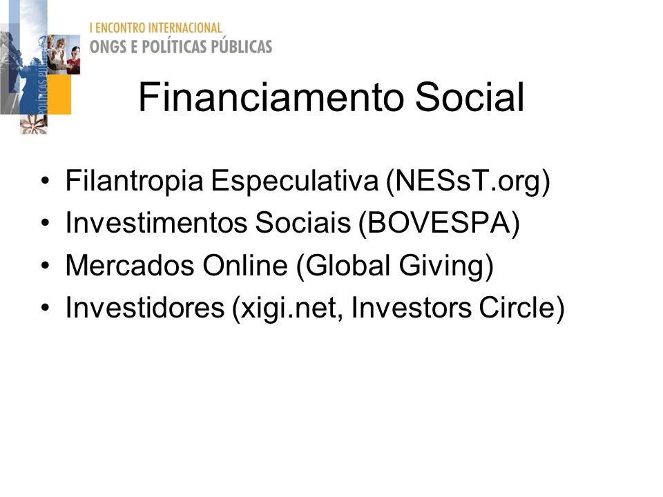 Financiamento Social Filantropia Especulativa (NESsT.org)
