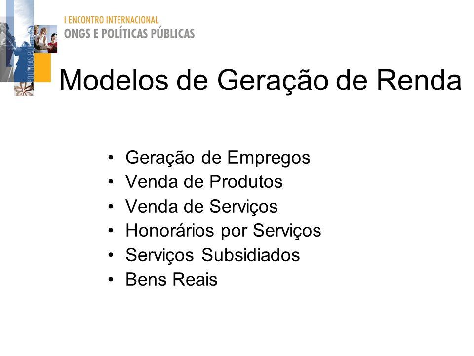 Modelos de Geração de Renda