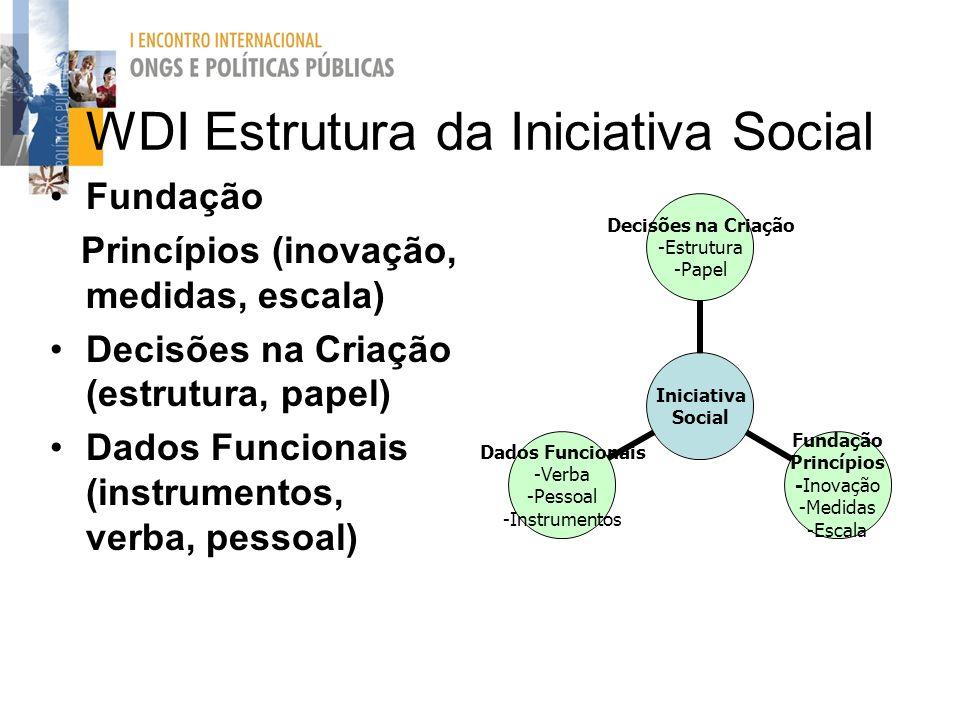 WDI Estrutura da Iniciativa Social