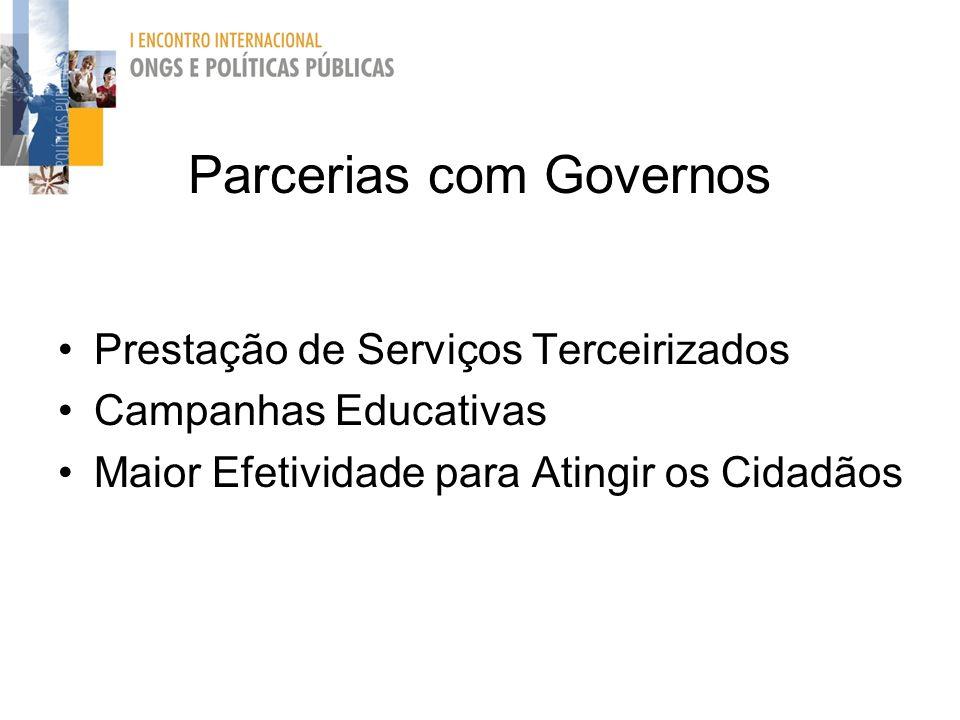 Parcerias com Governos
