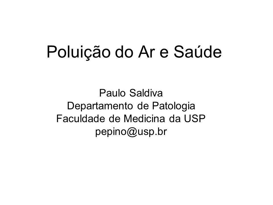 Poluição do Ar e Saúde Paulo Saldiva Departamento de Patologia