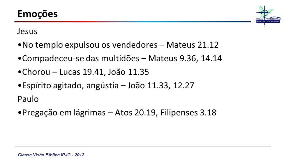 Emoções Jesus No templo expulsou os vendedores – Mateus 21.12
