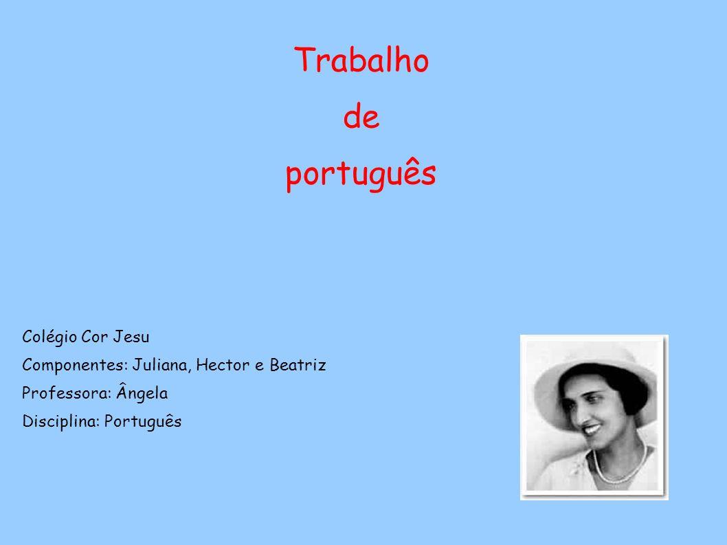 Trabalho de português Colégio Cor Jesu