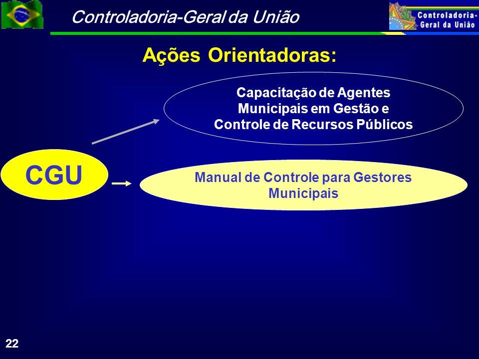 Manual de Controle para Gestores Municipais