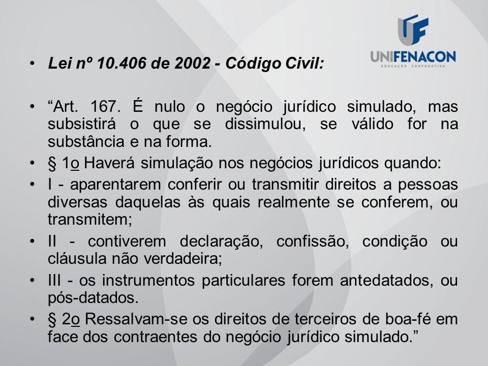 Lei nº 10.406 de 2002 - Código Civil:
