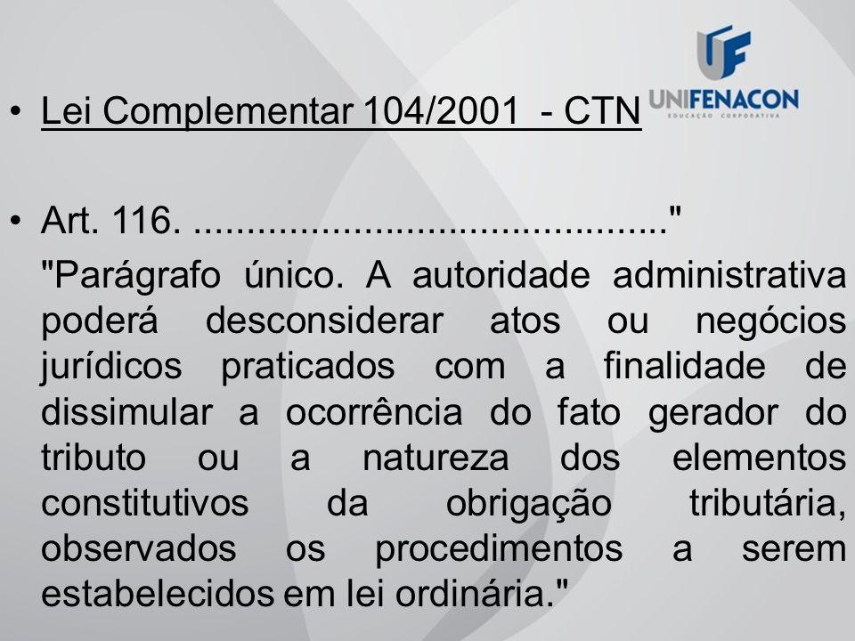 Lei Complementar 104/2001 - CTN